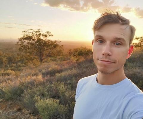 Marcus Korb on a Perth hiking trail